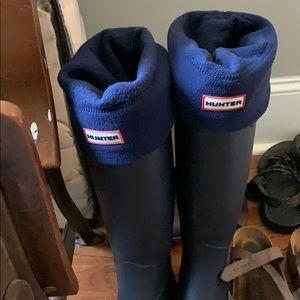 Navy blue hunter rain boot socks
